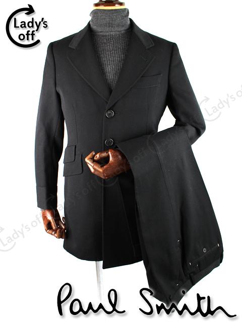 ポールスミス [ Paul Smith ] 3つボタン ロングジャケット カジュアル スーツ ブラック 黒 シングル パンツ