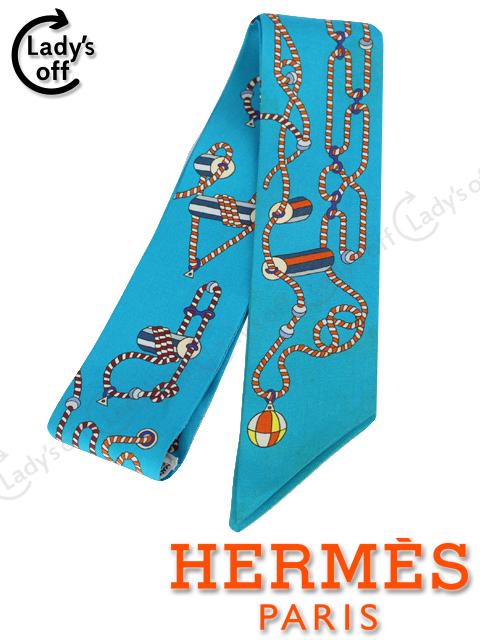 エルメス [ HERMES ] トゥイリー ブルー ツイリー トゥイーリー リボンスカーフ
