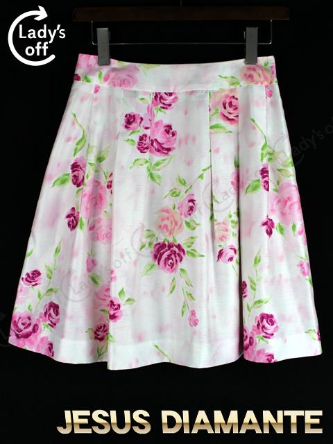 ジーザスディアマンテ [ JESUSDIAMANTE ] JAPONDOLLスカート ピンク 復活ぼかしバラ柄