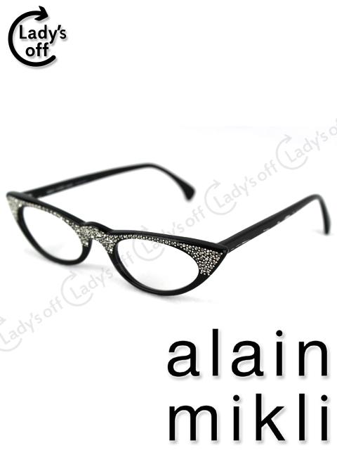 アランミクリ [ alain mikli ] スワロフスキー 眼鏡フレーム [0182 283 ] キャッツアイ