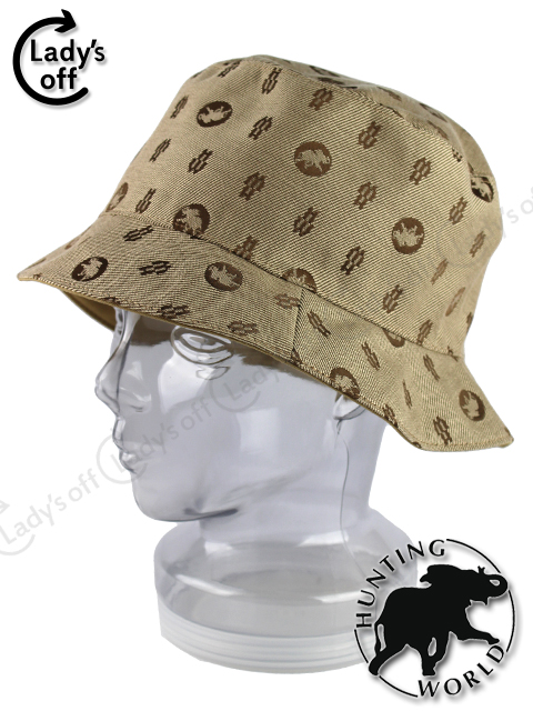 ハンティングワールド [ HUNTINGWORLD ] リバーシブル ハット 帽子 ベージュ