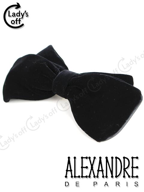 アレクサンドルドゥパリ [ ALEXANDRE ] ベロア リボン バレッタ ブラック 黒 ヘアアクセサリー ヘアクリップ