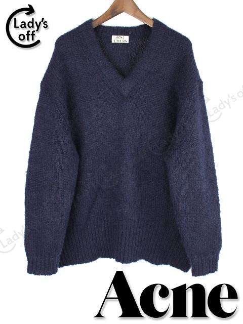 アクネ [ Acne ] オーバーサイズ ニット セーター ネイビー 紺色 SIZE[XS] ビッグシルエット [Rssie Kid]