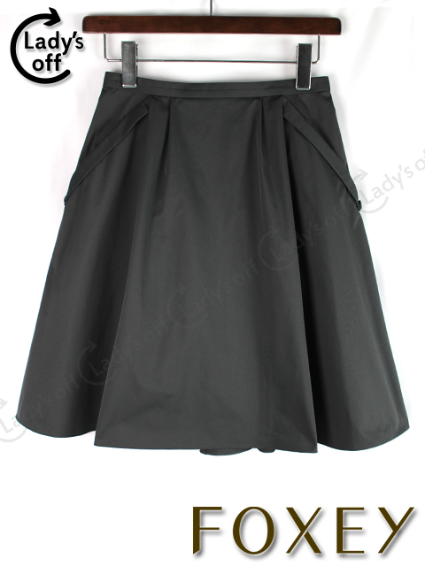 フォクシーNY [ FOXEY ] フレアースカート ブラック 黒