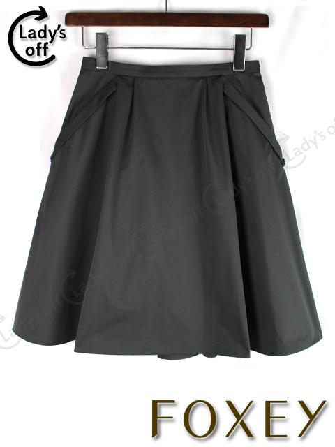 フォクシーNY [ FOXEY ] フレアースカート ブラック 黒 SIZE[38