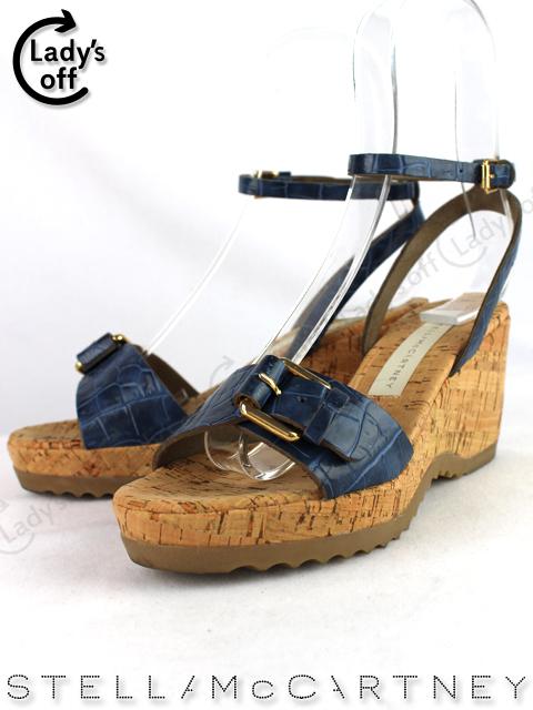 ステラマッカートニー [ Stella McCartney ] コルクウエッジ 厚底 サンダル SIZE[35] LINDA CORK 70M BLU BLUE