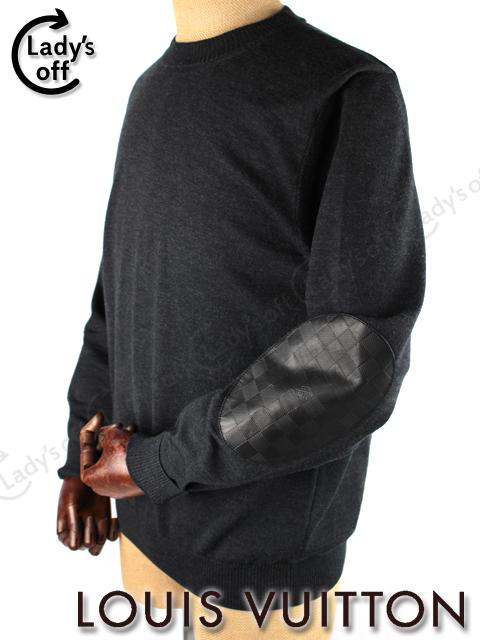 ルイヴィトン [ LOUIS VUITTON ] ダミエ ニット セーター グレー ブラック