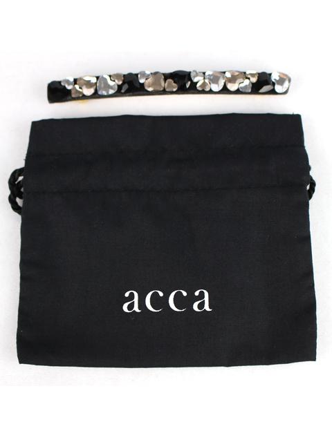 アッカ [ acca ] スワロフスキー ハートバレッタ ブラック 黒 ヘアクリップ ヘアアクセサリー