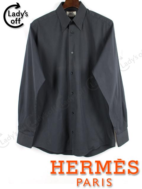 エルメス [ HERMES ] セリエ ストレッチ シャツ ブラック 黒 長袖