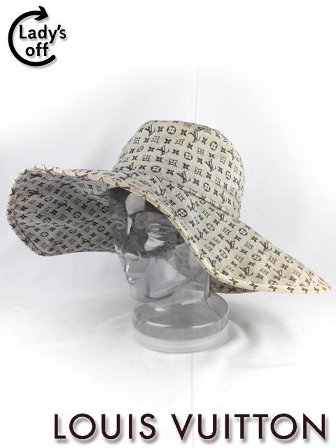 ルイヴィトン [ LOUISVUITTON ] モノグラム 女優 帽子 ネイビー レディース ハット ぼうし