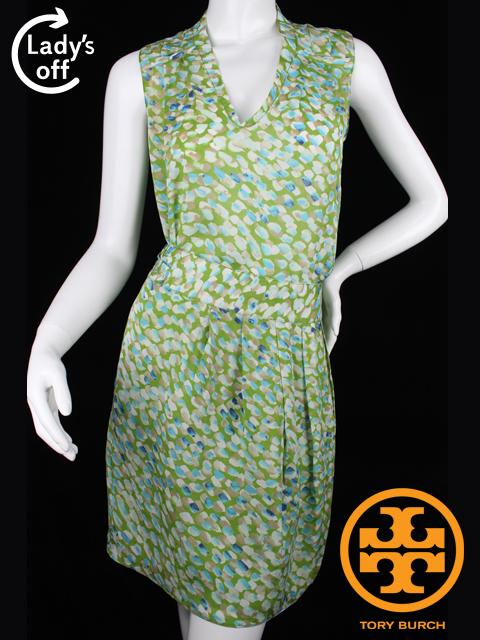 トリーバーチ [ TORYBURCH ] ブラウス スカート セットアップ グリーン系柄 カットソー プルオーバー ワンピース