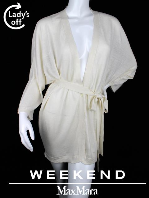 マックスマーラ ウィークエンド [ MaxMara WEEKEND ] ロング カーディガン ホワイト 白 長袖 SIZE[L] レディース トップス 婦人用 女性用