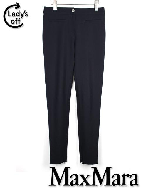 マックスマーラ ストゥディオ [ MaxMara STUDIO ] ファスナー ストレッチ テーパード パンツ ネイビー 紺色 レディース ボトムス スティックパンツ