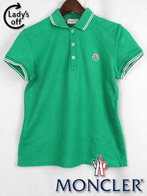 モンクレール [ MONCLER ] ポロシャツ グリーン 半袖 緑色 SIZE[S] レディース トップス カットソー
