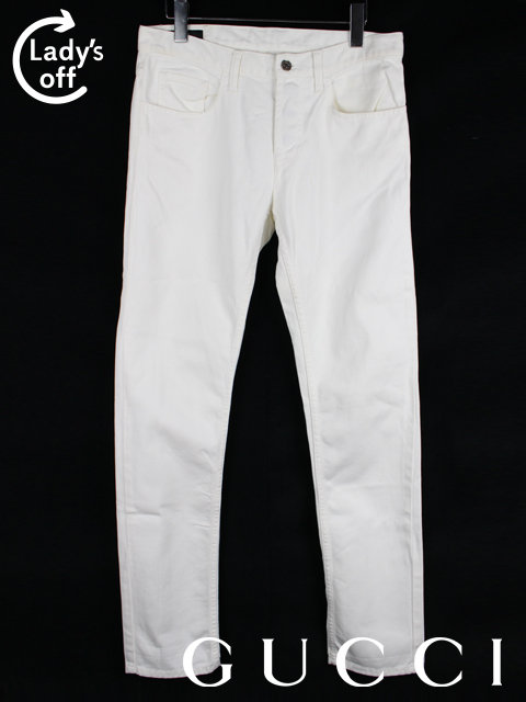 グッチ [ GUCCI ] スキニー ホワイト デニム パンツ SIZE[44] メンズ ボトムス ジーパン Gパン