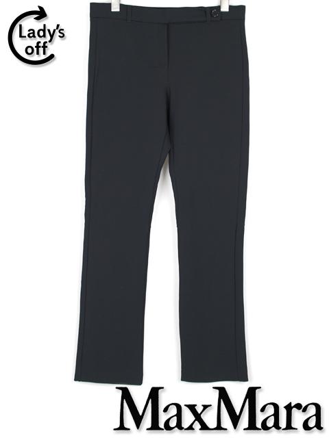 マックスマーラ [ MaxMara ] コンサバ ストレッチ パンツ ネイビー 紺色 SIZE[M] レディース ボトムス