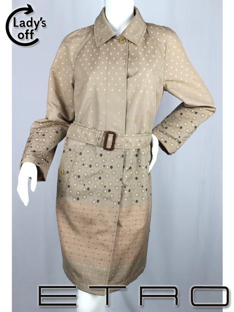 エトロ [ ETRO ] ペイズリー柄 トレンチコート ベージュ SIZE[42] レディース 女性用 婦人用 スプリングコート