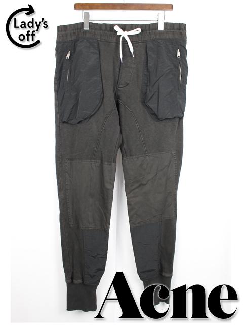 アクネ [ Acne ] スウェットパンツ ブラック 黒 SIZE[L] ジョガーパンツ テーパードパンツ ジャージ メンズ ボトムス