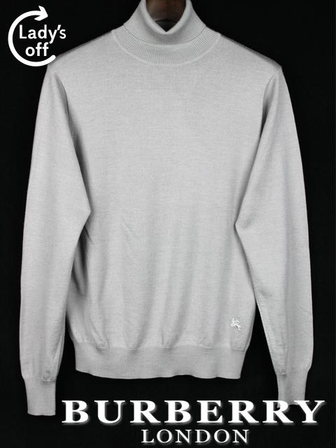 バーバリーロンドン [ BURBERRY LONDON ] カシミヤ混 ハイネック ニット セーター 長袖 SIZE[M] メンズ トップス グレー