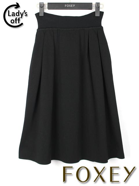 フォクシー [FOXEY BOUTIQUE] ニット フレアースカート ブラック 黒 SIZE[40] レディース ボトムス
