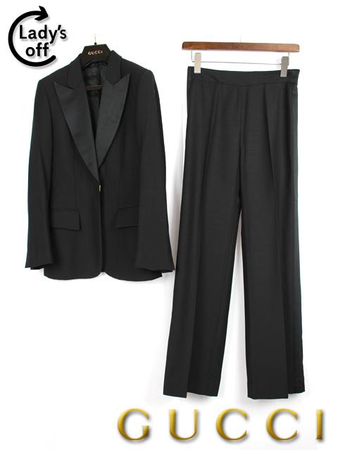 グッチ [ GUCCI ] G柄 パンツ スーツ ブラック 黒 SIZE[42 38] レディース ジャケット セットアップ