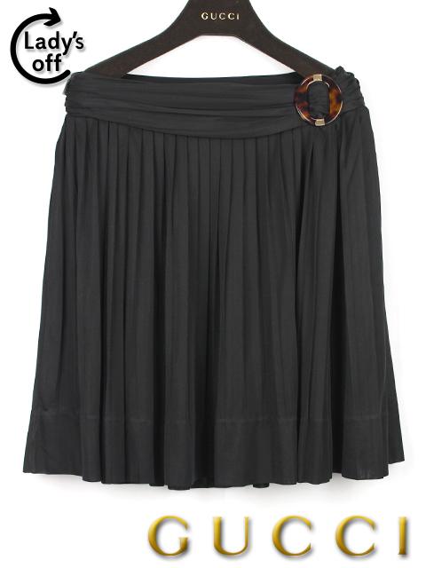 グッチ [ GUCCI ] プリーツ スカート ブラック 黒 SIZE[S] レディース ボトムス