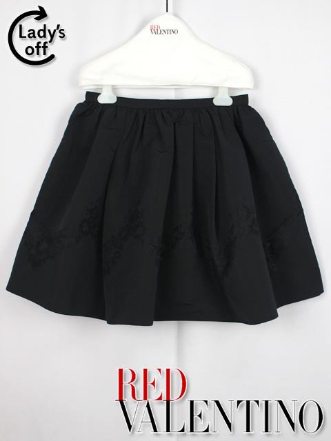 レッドヴァレンティノ [ VALENTINO ] タフタ フレアースカート ブラック 黒 SIZE[40] ]レディース ボトムス