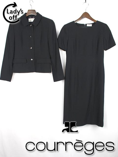 クレージュ [ courreges ] ワンピース セットアップ スーツ 濃紺 SIZE[7AR] ジャケット お受験 就職 入学式 卒業式 就活 面接に!