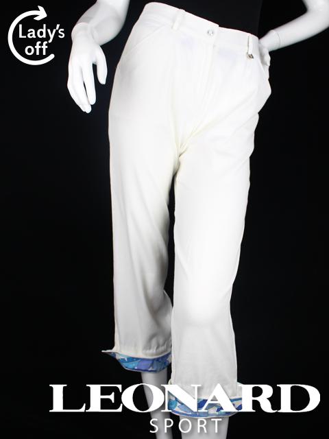 レオナール [ LEONARD ] カプリパンツ ホワイト 白 SIZE[64] レディース ボトムス