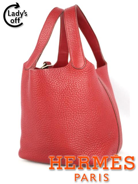 エルメス [ HERMES ] ピコタンPM トリヨンクレマンス ルージュ 赤 ハンドバッグ