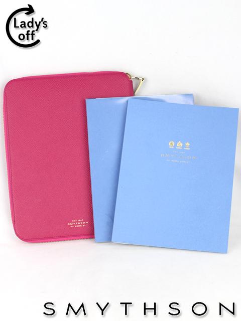 スマイソン [ SMYTHSON ] PANAMA A5 Zipped Folder ピンク ノート レザーノートケース iPadケース