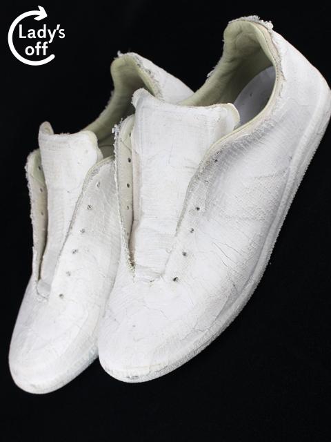 マルタンマルジェラ レプリカ[ Margiela REPLICA ] 白ペンキ スニーカー ホワイト SIZE[42] メンズ シューズ