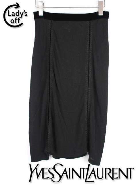 イヴ サンローラン [ SAINT LAURENT ] ストレッチ ペンシルスカート ブラック 黒 SIZE[M] レディース ボトムス