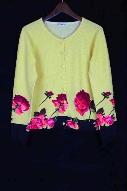 アンナモリナーリ [ ANNA MOLINARI ] バラ レース ニット カーディガン SIZE[I42 D36] レディース トップス カーデ フラワー 花柄 薔薇柄