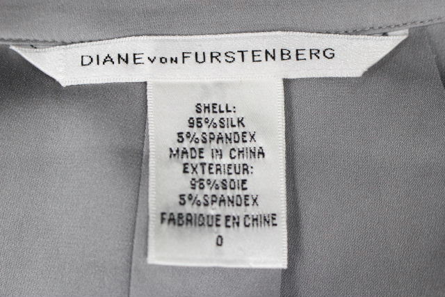 ダイアンフォンファステンバーグ [ DIANE ] プルオーバー シャツ ブラウス グレー SIZE[0] レディース トップス