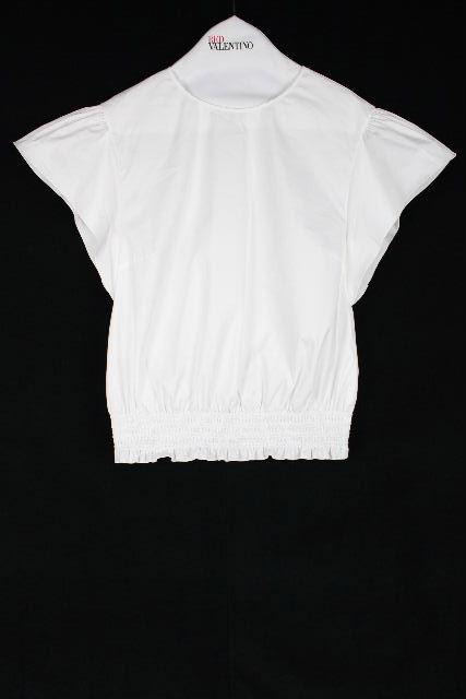 レッドヴァレンティノ [ VALENTINO ] ストレッチ プルオーバー シャツ ホワイト 白 SIZE[40] レディース トップス ブラウス