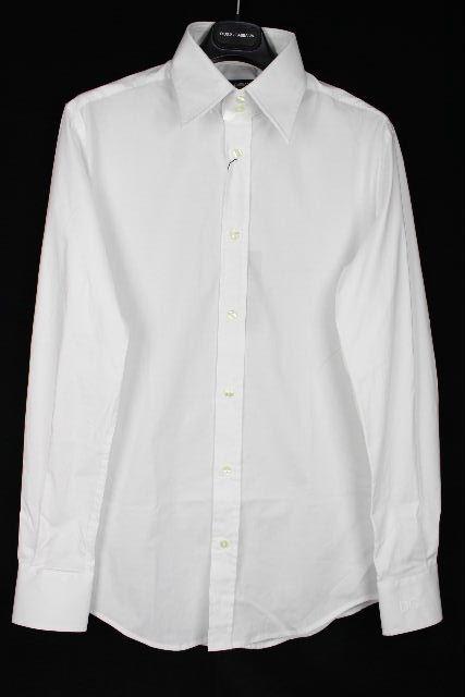 ドルチェ&ガッバーナ [ DOLCE&GABBANA ] DG刺繍 カッターシャツ 白 長袖 SIZE[16/41] メンズ トップス ワイシャツ シャツ