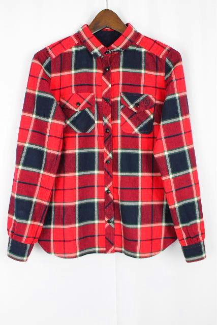 ブルーレーベルクレストブリッジ [ BLUELABEL ] Bロゴ刺繍 チェック柄 ネルシャツ 長袖 SIZE[36] レディース トップス シャツ