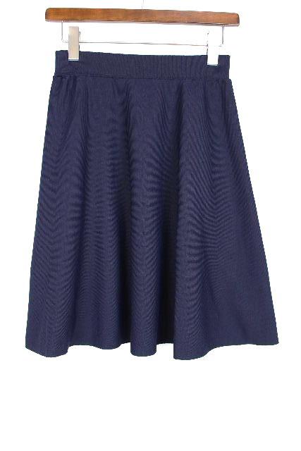 ブルーレーベルクレストブリッジ [ BLUELABEL ] フレアー スカート ネイビー 紺色 SIZE[36]