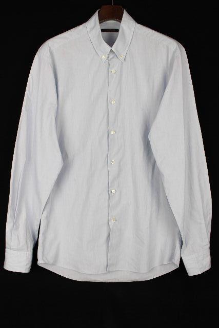 ルイヴィトン [ LOUISVUITTON ] LV刺繍 ボタンダウンシャツ ブルー 長袖SIZE[40] メンズ トップス ヴィトン ビトン