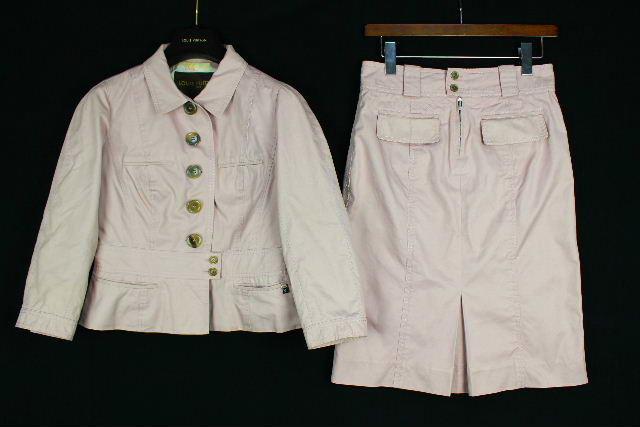 ルイヴィトン [ LOUISVUITTON ] フラワー柄 セットアップ スーツ ピンク レディース ジャケット スカート