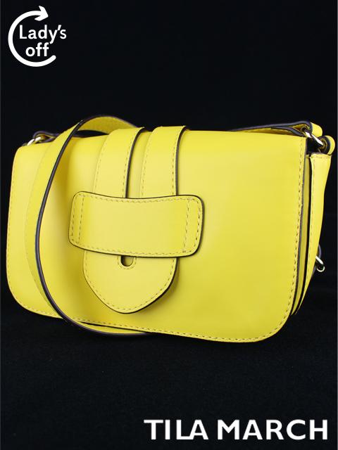 ティラマーチ [ TILA MARCH ] ゼリグ レザー ショルダーバッグ イエロー 黄色 レディース 斜め掛けバッグ バッグ