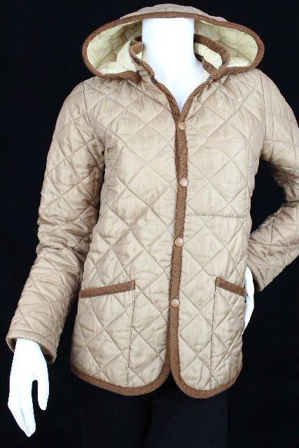 ラベンハム [ LAVENHAM ] 中綿 フード付 キルティング ジャケット コート SIZE[38] レディース アウター ベージュ