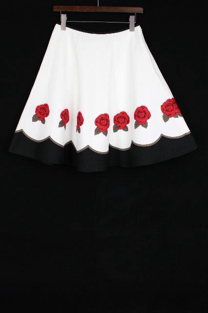 エムズグレイシー [ M'S GRACY ] バラ フレアー スカート ブラック 黒 SIZE[40] レディース ボトムス 薔薇柄