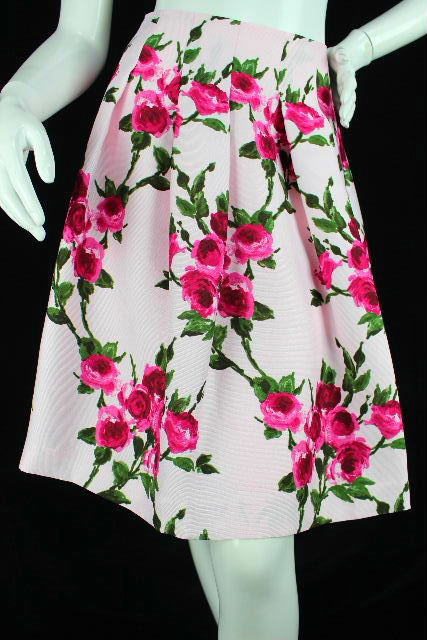 エムズグレイシー [ M'S GRACY ] 薔薇柄 フレアースカート ピンク SIZE[40] レディース ボトムス スカート
