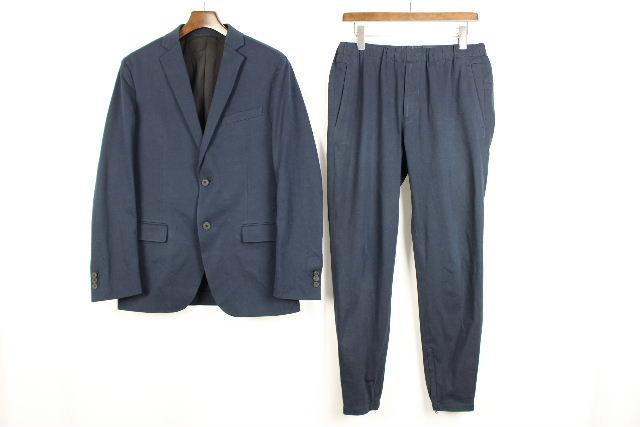 セオリー [ theory ] カジュアル セットアップ スーツ ネイビー 紺色 メンズ 男性用 ジャケット パンツ テーパード ジョガー