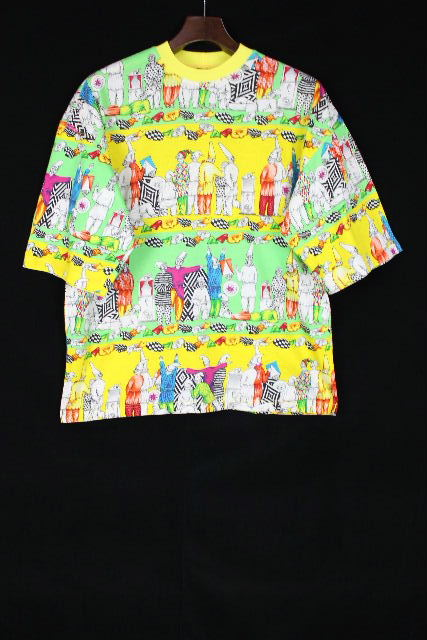 ヴェルサーチ [ VERSACE ] 柄物 ビッグシルエット カットソー Tシャツ 半袖 SIZE[S] メンズ トップス