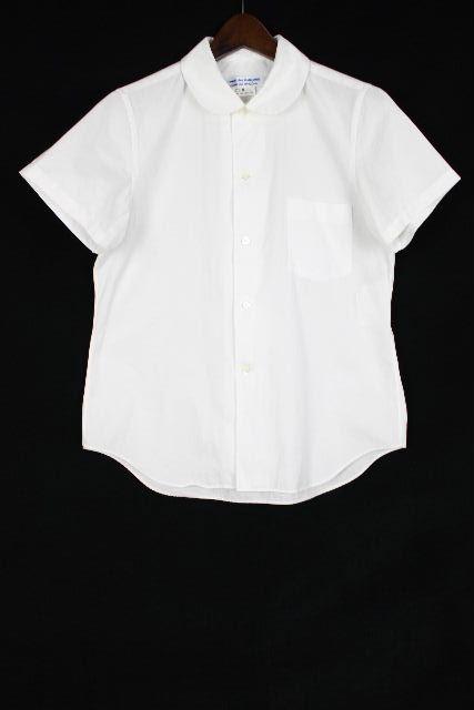 コムデギャルソン [ COMME des GARCONS ] 丸襟 シャツ ブラウス ホワイト 白 半袖 SIZE[S] レディース トップス