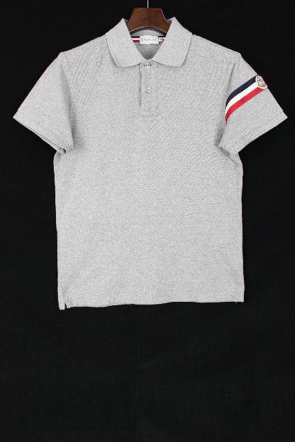 モンクレール [ MONCLER ] トリコロール ポロシャツ カットソー グレー 半袖 SIZE[S] メンズ トップス