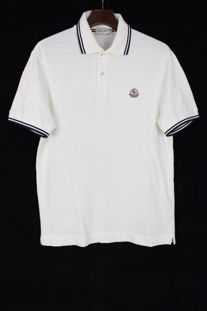 モンクレール [ MONCLER ] ポロシャツ カットソー ホワイト 白 半袖 SIZE[M] メンズ トップス
